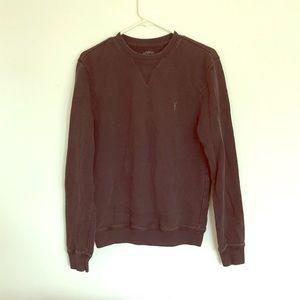 All Saints womens x-small grey crewneck sweatshirt
